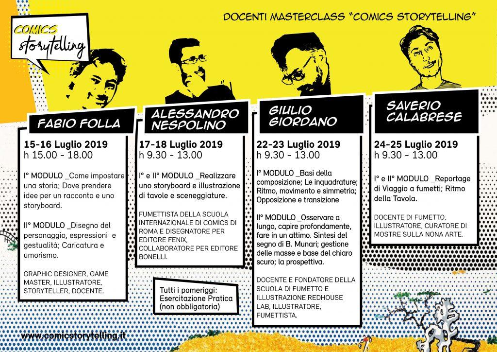 A4 Manifesto Masterclass e Docenti